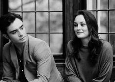the way he's looking at her, you'd think they were dating in real life. #ChairGossipGirl