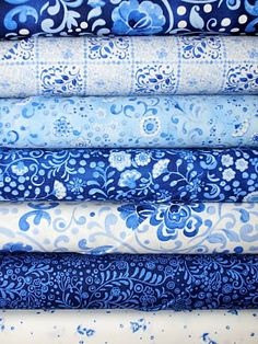 pretty blue cottons...more in my stash than I could ever use :)