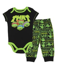 Look at this Black Ninja Turtles Bodysuit & Pants Set - Infant on #zulily today!