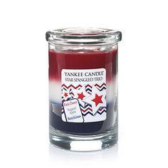 Yankee Candle Star Spangled Trio Layered Tumbler Candle >>> Check this awesome image Scent Warmers, Good Burns, My Yankees, Candle Diffuser, Candle Accessories, Star Spangled Banner, Paraffin Wax, Home Comforts, Best Candles