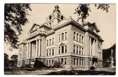 Vintage 1940s EKC Real Photo Postcard Brown County Court House Green Bay Wisconsin