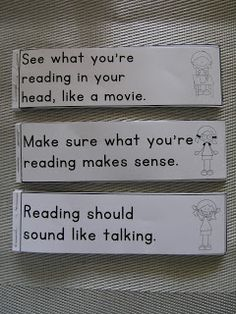 Guided Reading Reminder/Help Slips Clever Classroom
