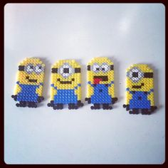 Minion Hama/Perler bead designs