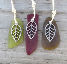 Leaves of Change Sea Glass Necklace by Wave of Life by WaveofLife, $16.00