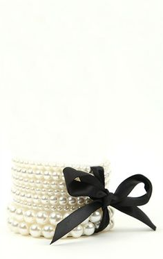 Deb Shops Stretch Pearl Bracelets with Bow $7.35