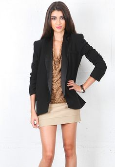 Haute Hippie Jacket with Washed Charm Lapel