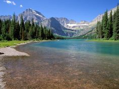 Lake Josephine with Grinnell Glacier and the Continental Divide, Glacier National Park, Montana Photographic Print by Jamie & Judy Wild at AllPosters.com