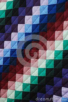 Amish Quilt Pattern Closeup Stock Photo - Image: 55525043