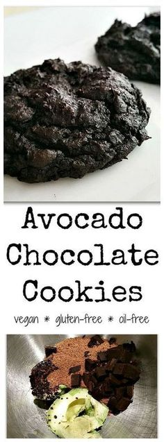 Chocolate Avocado Cookies -- these fudgy, decadent cookies are vegan, gluten-free, nut-free, oil-free, and paleo! This recipe doesn't even taste healthy -- it tastes like your favorite gooey brownies. #SimpleExcercises