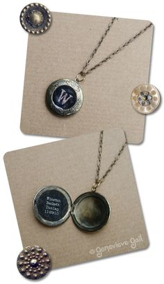 tutorial for a custom locket. LOVE the blackboard look by Genevieve Gail