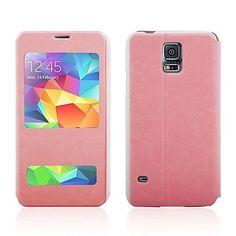 Ikkuna näyttää saapuvan puhelun PU Leather Case for Samsung Galaxy S5 i9600 – EUR € 12.99