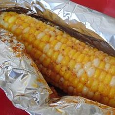 Oven Roasted Parmesan Corn on the Cob Allrecipes.com More