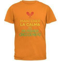 10e844c3b66670 Cinco De Mayo - Mantener Calma Primer Cinco De Mayo Orange Youth T-Shirt -  Youth Large
