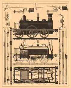 20+ Free Vintage Printable Blueprints and Diagrams | Print ...