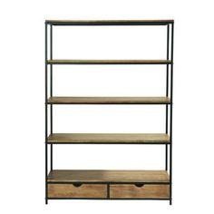 Metal industrial shelf unit W 130cm - Long Island