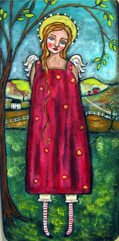 Prim Folk Art Angel