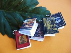 Gothic Classics Mini Book Charms Set of all by SouthwestSkyJewelry