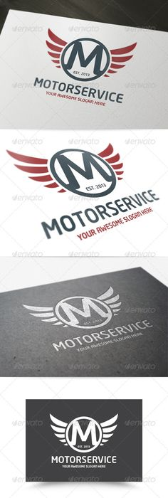 The Motor Service Letter Logo template Motor Service Logo is a strong and modern logo concept for various business purposes. All
