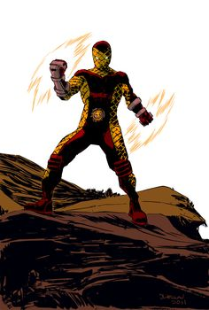 Shocker is a villain who has a pair of gauntlets that, when activated by a thumb trigger, can project a concentrated blast of air that is vibrated at an intense frequency. Marvel Villains, Marvel Comics Art, Marvel Vs, Shocker Marvel, Famous Superheroes, Comic Art, Comic Books, Marvel Comic Character, Silver Surfer