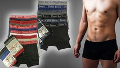 Buy: Multipack of Men's Boxers - 4 Styles for just: £8.00 Update your underwear drawer with the Multipack of Men's Boxers Available in S (28-30in), M (32-34in), L (36-38in) or XL (38-40in) Available in 4 styles: gold/silver, tonal, red or fashion Choose from either a 6 or 12 pack of boxers Made from 35% cotton and 65% polyester Machine washable for easy cleaning ...