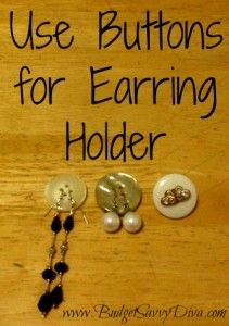Use a Button as an Earring Holder