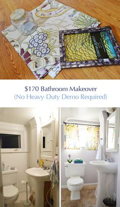 It's done! Our $170 bathroom makeover for Granny ❤️