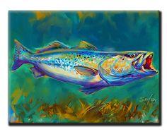 "Savlen Studios - Saltwater Speckled Trout Fish Tile Art - ""Spotted Trout"", $39.95 (http://www.savlenstudios.com/saltwater-speckled-trout-fish-tile-art-spotted-trout/)"