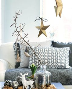 Wohnzimmer mit Sternenhimmel :) Sternanhänger von Greengate