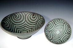 Bowls by award-winning ceramic artist Jane Woodside