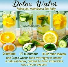 Natural Detox Water - Help to flush impurities out of your system and stay healthy with a natural detox drink. I absolutely love detox drinks Healthy Detox, Healthy Smoothies, Healthy Drinks, Healthy Water, Stay Healthy, Smoothie Recipes, Juice Recipes, Detox Smoothies, Green Smoothies