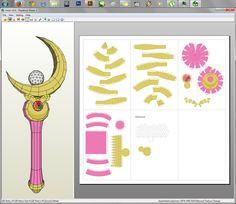 Sailor Moon - Moon Stick Papercraft by aiko-chan14 on deviantART