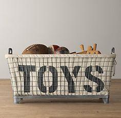 Baskets, Bins & Toy Storage | Restoration Hardware Baby & Child