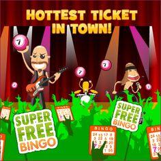 Forget Glastonbury - we've got the hottest ticket in town this Summer! http://www.superfreebingo.com/pinterest1