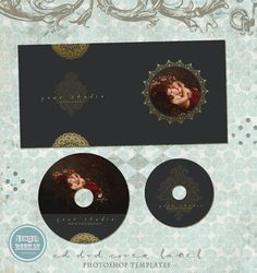 Wedding Cd Cover Template  Cd Label Template  Dvd Cover Template