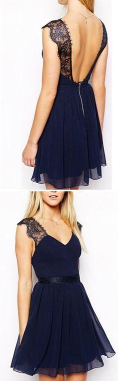 Navy Blue Party Dress- I wish I had more reasons to wear pretty dresses Navy Blue Party Dress, Navy Dress, Dress Party, White Dress, Navy Party, Blazer Dress, Pretty Outfits, Pretty Dresses, Beautiful Dresses