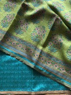 Printed art silk saree Raw Silk Saree, Tussar Silk Saree, Cotton Silk, Printed Cotton, Indian Fashion, New Fashion, Saree Trends, Woman Clothing, Saris
