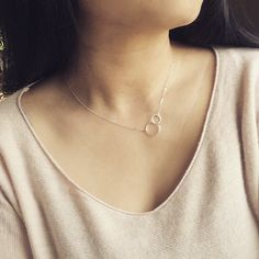 Dainty Double Sterling Silver Eternity Necklace by cocowagner