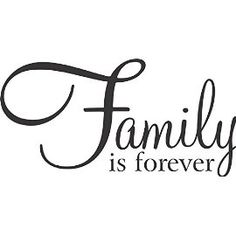 Family Is Forever -Wall Vinyl Decal Sign - 22 X 12 Inches