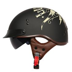 Check out our originally designed and exceptionally beautiful motorcycle half helmets with retractable visor! Super lightweight and DOT Certified! Dot Approved Motorcycle Helmets, Cruiser Motorcycle Helmet, Motorcycle Helmet Brands, Scooter Helmet, Helmet Visor, Helmet Shop, Biker Helmets, Women Motorcycle, Articles