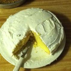 The delish cake I baked