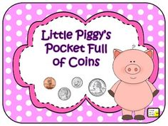Can be used with or without a QR scanner! QR Money ~ Little Piggy's Pocket Full of Coins First Grade Classroom, 2nd Grade Math, Teacher Observation, Teaching Money, Matching Cards, Qr Codes, Happy Smile, Math Activities, Counting