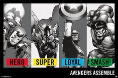Trends International Avengers Traits Wall Poster inch x 34 inch, Multicolor Poster Wall, Poster Prints, Art Prints, Posters, Hulk Art, Avengers Characters, Marvel Comics, Photo Art, Empty Wall