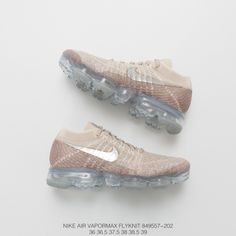 bd1a52186b028b Nike Womens Air Vapormax Flyknit Steam Air Max Jogging Shoes String  Cappuccino Grey Silver Tick