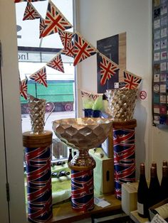 #Wine merchant Philglas & Swiggot using union jack bunting from WBC's Cool Britannia range www.wbc.co.uk/products/british