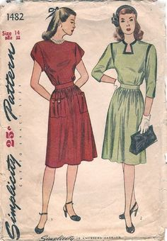 Simplicity 1482 / Vintage 40s Sewing Pattern / by studioGpatterns