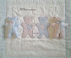 Forever friends. Quilt da culla. http://elbichofeo.blogspot.com https://www.facebook.com/pages/Bicho-feo/382736388432736?ref=hl