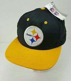 f99c80a7846 Pittsburgh Steelers NFL Gameday Baseball Cap Vintage NWT Snapback  adjustment Hat Gameday Baseball