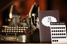 Vintage 1920s Typewriter Guest Book - RuffledBlog.com... we have done this before, it's a great touch... and a fun experience for your guests.