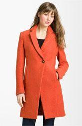 Kenneth Cole New York Notch Collar Bouclé Coat