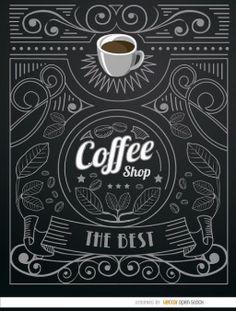 Vintag rótulo café